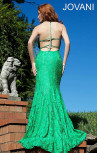 Jovani - Crystal Flower Gown Emerald (93140)