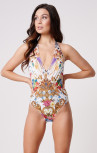 Forever Unique - Bahama White Multi Floral Swimsuit (MN201716)
