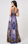 Forever Unique - Paradise Purple Multi Print Maxi Dress (MN201721)