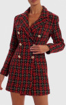 Forever Unique - Dash Boucle Tartan Blazer Dress (WF1601)