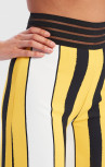 Forever Unique - Vida Yellow, Black And White Striped Wide Leg Trousers (AF9709)