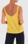 Forever Unique - Genoveva Yellow High-Shine Camisole Top (AF9721)