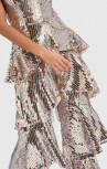 Forever Unique - Genie Silver Sequin Tiered Ruffle Jumpsuit (TJ1604)