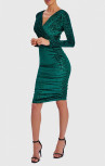 Forever Unique - Enzo Emerald Green Leopard Print Midi Dress (WF4329)