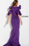 Jovani - Black Ruched Scuba Evening Gown (61518)