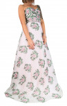 Jovani - Light Pink Floral Strapless Gown (48417)