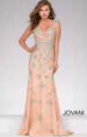 Jovani - Nude Embellsihed Sleeveless Dress (31201)