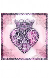 King Baby - Pink Baroque Heart Scarf (A90-1061)