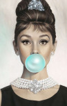 Limitato - Audrey Hepburn Bubble Gum Navy T-Shirt (A.H Gum)