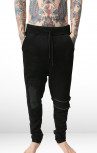 RH45 - Black Sweatpants with Zip and Leather Detail (P403)