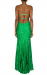 Jovani - 'Crystal Flower' Gown Emerald Back (93140A)