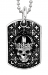 King-Baby-Sterling-Silver-Large-Crowned-Skull-Relic-Dog-Tag-Pendant-Chain-boudi-online