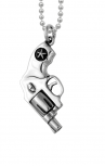 King Baby - Small Silver Revolver Pendant (K10-5184)