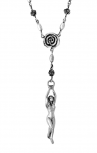 King Baby - Silver Woman & Rose Rosary (K56-5014)