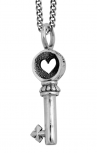 Queen Baby - Silver Key Pendant (Q10-5126)