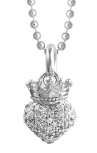 Queen-Baby-Silver-3D-White-Crystal-Crowned-Heart-Chain-Queen-Baby-Jewellery-Earrings-Boudi-UK