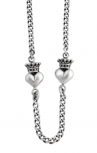 Queen Baby - Sterling Silver Crowned Heart Necklace (Q56-5030)